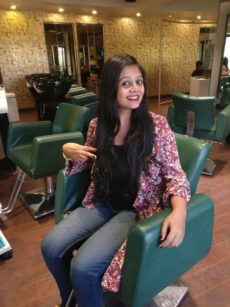 Before Haircut at Aurum Spa Ahmedabad
