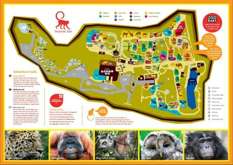 Twycross Zoo Map