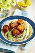 Fried Coconut Salmon with Napa Cabbage