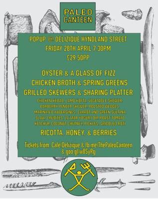 Event: Paleo Canteen Pop up at Delizique Friday 28th April