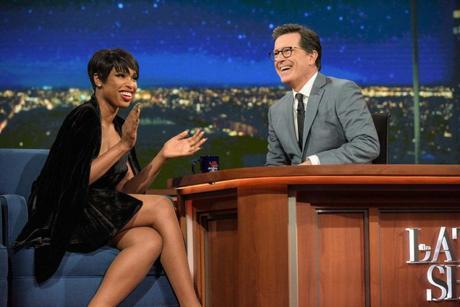 Watch: Jennifer Hudson Takes Stephen Colbert To Church