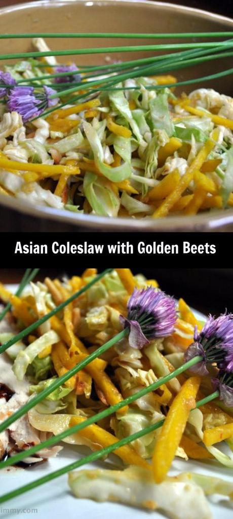 Asian Slaw with Golden Beets