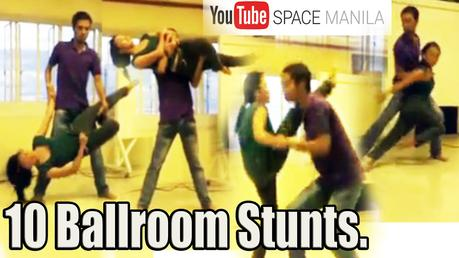10 Dynamic Ballroom Stunts In Preparation For YouTube Space Manila 2017.