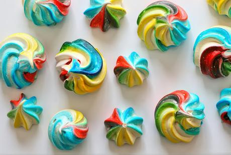 How to make easy rainbow meringues (and a rainbow cake!)