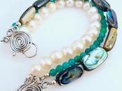 Abalone Pearl Amazonite 3-Strand Bracelet A...