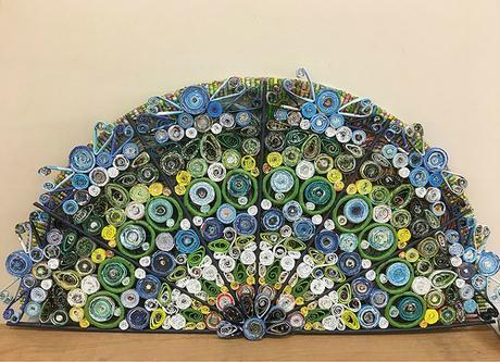 Peacock Paper Fan by Wendy Verity