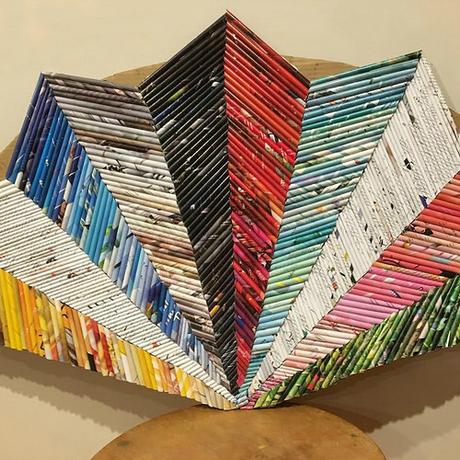 Paper Fan - Chevron Design