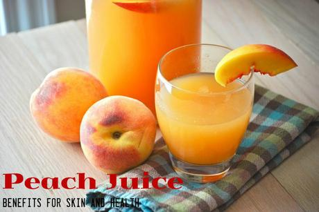 Peach Juice Benefits Skin Health