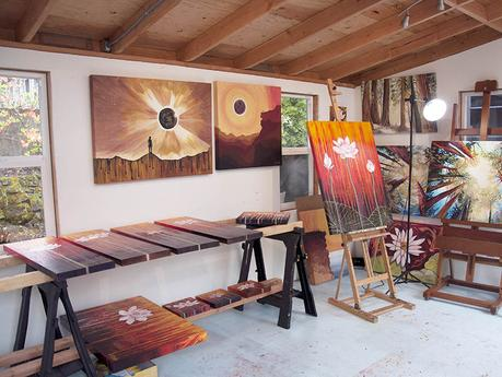 Art studio of Cedar Lee, April 2017