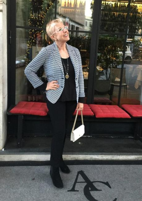 evening look with Missoni jacket