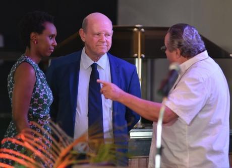 UNWTO Candidate Alain St. Ange, Wolfgang Thome, Carmen Nibigira
