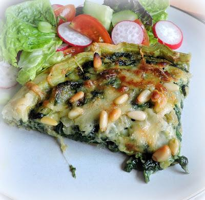 Spinach and Gruyere Tart