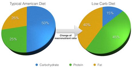 low carb macronutrient ratio pie chart