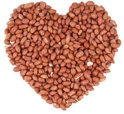deshelled peanuts shaped as heart