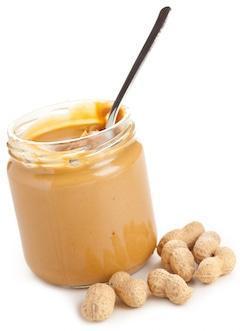 peanut butter tub with spoon