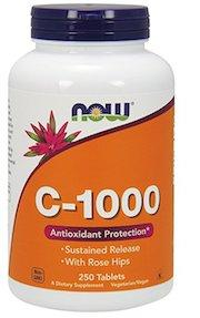 NOW Foods Vitamin C-1000 Sustained Release with Rose Hips