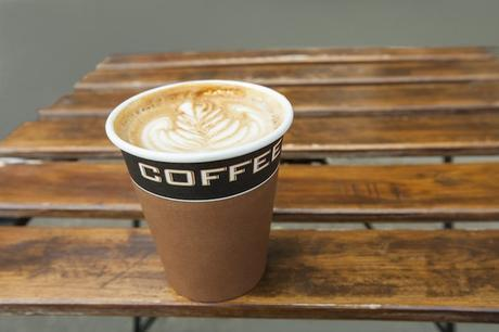 coffee lattee on table