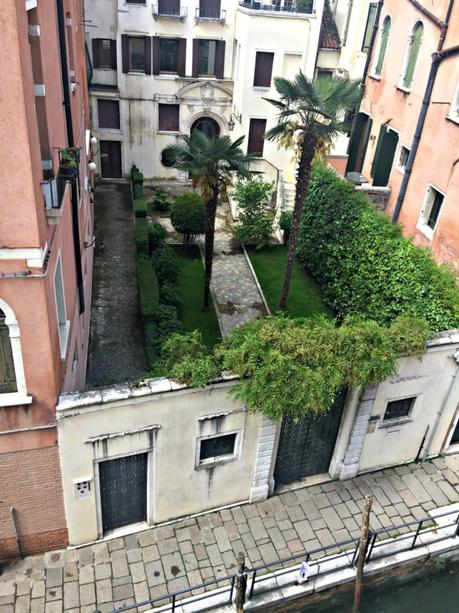 Venice canal and private garden