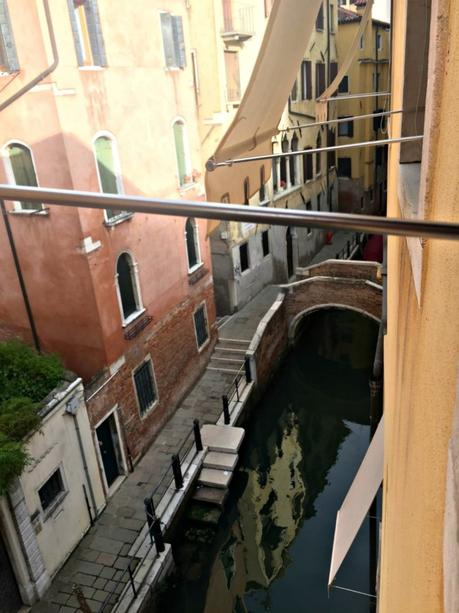Venice room view, small canal in San Marco area
