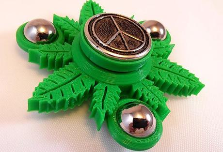 Peace & Ganja Green 420 Hand Spinner