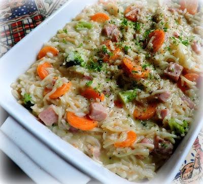 Cheesy Ham and Vegetable Rice