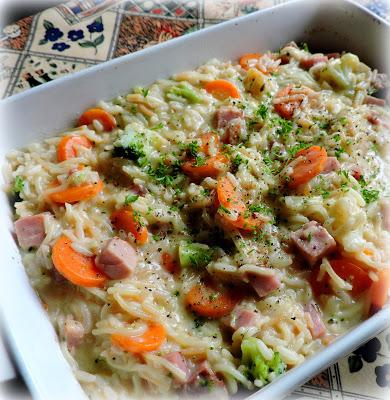 Cheesy Ham and Vegetable Rice