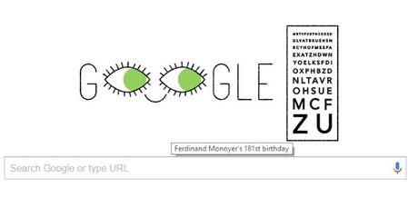 Today Google celebrates birthday of Ferdinand Monoyer with a doodle !!