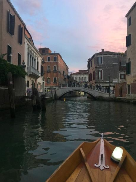 rowing in canals in Venice