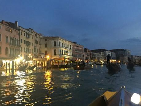 evening rowing on Grand Canal Venice