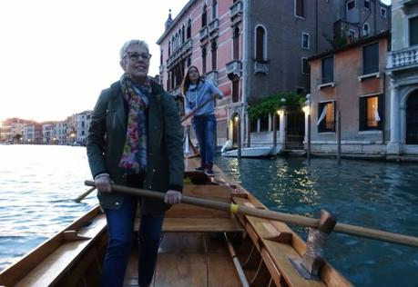 rowing in the Venice Grand Canal
