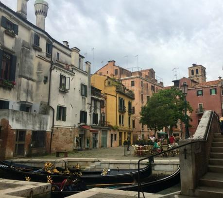 canal and gondolas in Venice