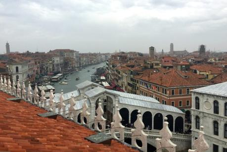 rooftop view Rialto bridge and Grand Canal, Venice