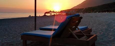 holiday beach sunset