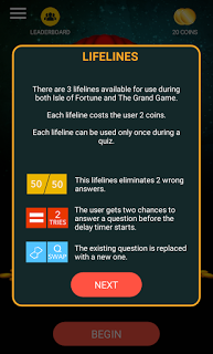 New Quiz app - The Isle of Fortune