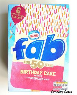 Review: Fab Birthday Cake Flavour Ice Lollies