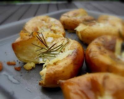 Smashed Roasted New Potatoes