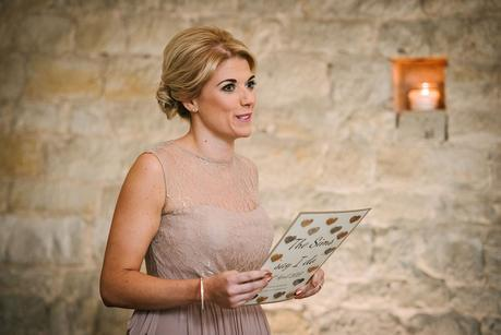 bridesmaid giving a reading
