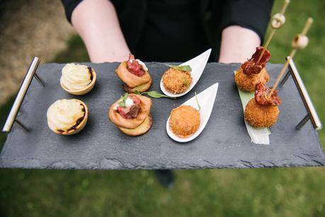 wedding food on a tray