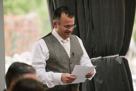 bestman giving a speech at blackwell grange