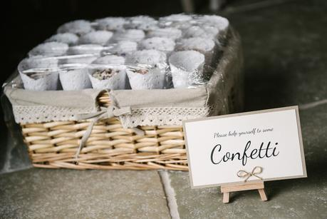 confetti at blackwell grange wedding venue