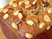 Peanut Butter Banana Bread with Milk Chocolate Chips