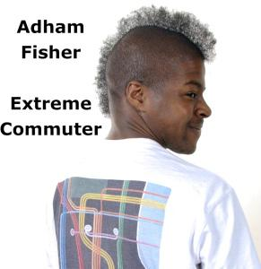 "Adham Fisher, record-breaking Extreme Commuter. Why? ""No reason"""