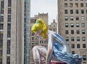 Seated Ballerina Jeff Koons View June 2017 Rockefeller Center