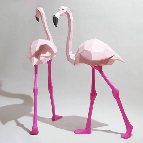 Paperwolf Flamingos