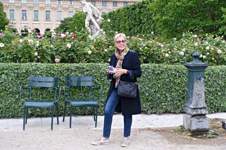 rose garden behind Palais Royal in Paris