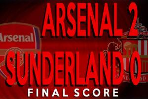 Sixer's Sevens: Arsenal 2-0 SAFC. A smidgeon of pride