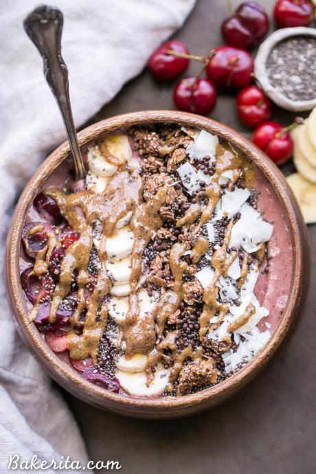 Banana Cherry Smoothie Bowl (Paleo + Vegan)