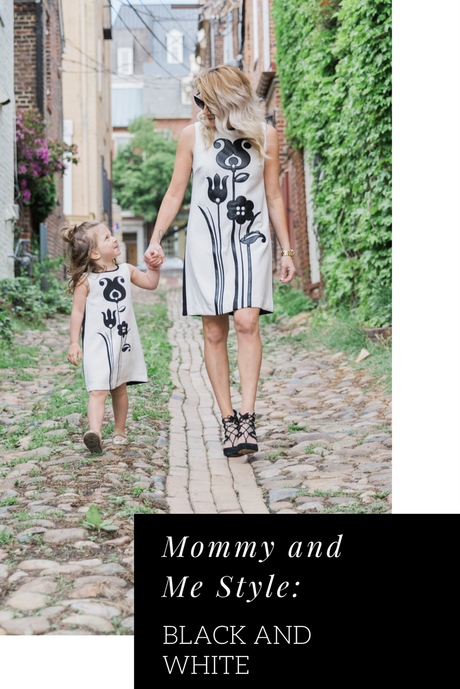 Mommy and Me style: Black and White
