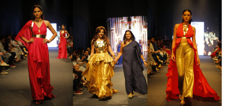 India Runway Week Season 8- Season of Gold, shimmer and cuts.
