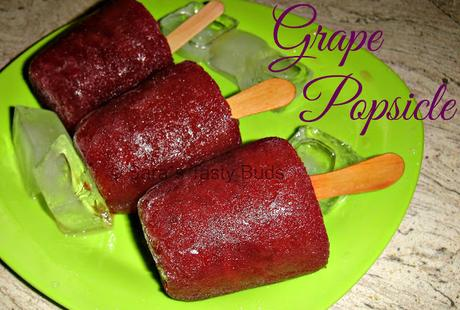 Grape popsicle / Grape Ice Pops / Thratchai kuchi Ice